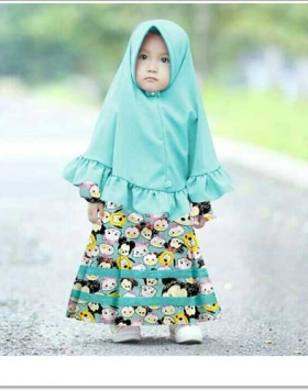 Baju Gamis Anak Perempuan Terbaru 2018 Kimmi Kids Bahan Katun Jepang