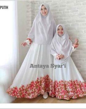 Baju Gamis Couple Ibu dan Anak Antaya Syar'i Bahan Balodior