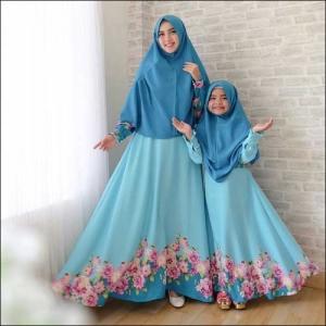 Baju Muslim Couple Ibu Dan Anak Sharifa Syar'i Bahan Balodior