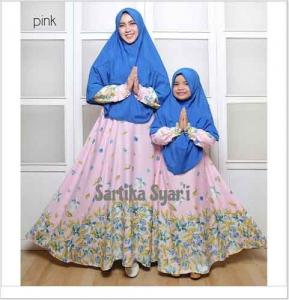 Baju Baju Muslim Couple Ibu dan Anak Sartika-Syar'i bahan Balodior