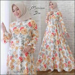 Busana Muslimah Terbaru Monica Dress Bahan Maxmara