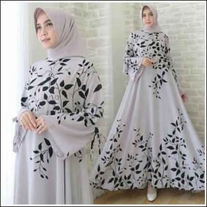 Busana Muslimah Terbaru Ramoza Dress Warna Putih Bahan Bubblepop