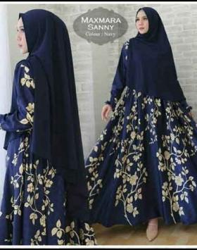 Jual Baju Gamis Terbaru Sanny Syar'i Bahan Maxmara import