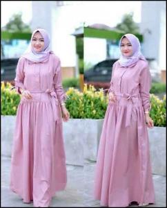 Online Shop Baju Hijabers Terbaru Afra Dress Bahan Toyobo