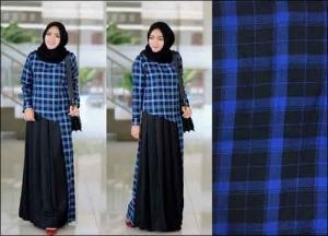 Jual Baju Gamis Katun Anggun Dania Maxi Bahan Ima Platinum Dan Flanel