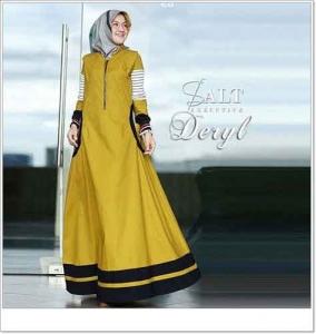 Onlineshop Baju Hijabers Modern Cantik Deryl Maxi Bahan Ima Platinum