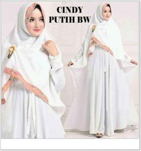 Baju Gamis Syar'i Murah Online Cindy Syar'i warna Bahan Misbie