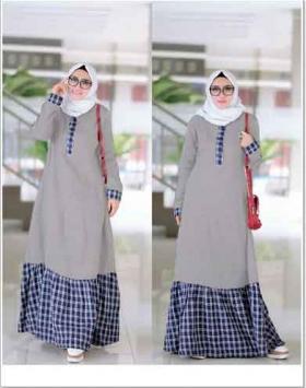 Disstributor Baju Muslimah santai Fariah Maxi Bahan Ima Platinum dan Flanel