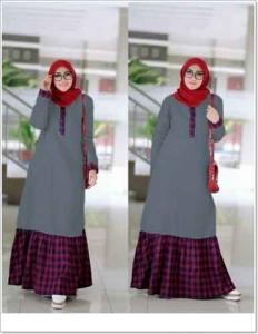 Distributor Baju Muslimah Santai Fariah Maxi Bahan Ima Platinum dan Flanel