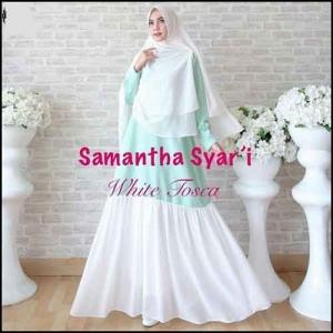 Jual Baju Gamis Cantik Samantha Syar'i Bahan Baloteli