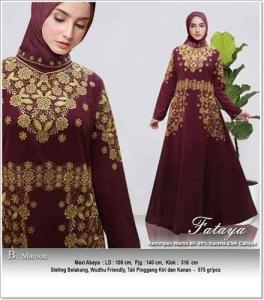 Jual Grosir Baju Gamis Modern Tanah Abang Fataya Dress Bahan Rami Linen