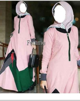 Jual Online Baju Gamis Femme Maxi Bahan Katun Ima Platinum
