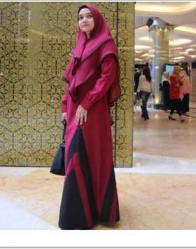 Jual Online Baju Gamis Terbaru Victoria Syar'i Bahan wolly Crepe