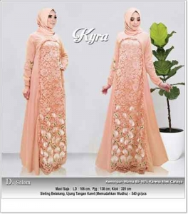 Jual Online Bjau Gamis Pesta Modern Kyra Dress Bahan Wollycrepe