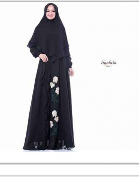 Supplier Baju Gamis Syakila Syar'i mewah Angun Bahan Ceruti