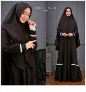 Baju Gamis Almahyra Syar'i Polos Bahan Wollycrepe