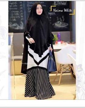 Jual Baju Gamis Terbaru Naima Syar'i Bahan wollycrepe