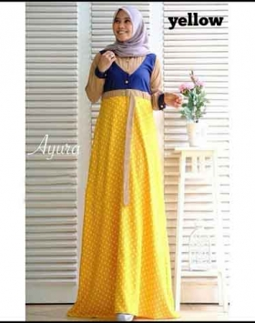 Online Shop Baju Hijabers Ayura Maxi Bahan Toyobo