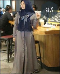 Online Shop Baju Hijabers Polos Malika Maxi Bahan wollycrepe