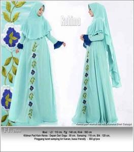 Supplier Baju Gamis Pesta Polos Rahima Syar'i Bahan Ceruti