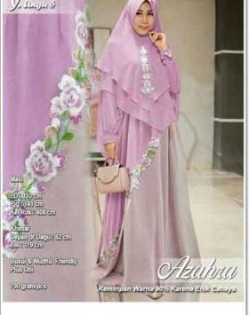 Supplier Baju Pesta Muslim Anggun Azahra Syar'i Bahan Ceruti
