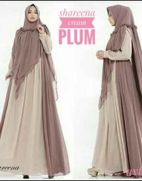 Supplier Baju gamis Pesta Shareena Syar'i Bahan Ceruti Lapis Furing