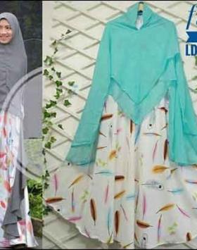 Grosir Baju Gamis Syar'i Tanah Abang Funix Syar'i Bahan Monalisa