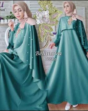 Jual Baju Gamis Pesta Ukuran Kecil BELANOVA Dress Bahan Roberto Cavali