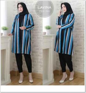 Jual Grosir Baju Atasan Wnita Muslim LAVINA OUTER Bahan Maxmara