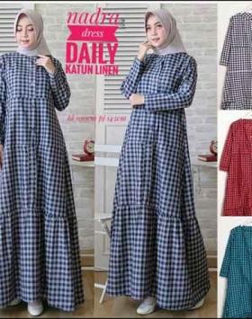 Jual Online Baju Gamis Katun Nadra Dress Ukuran Kecil