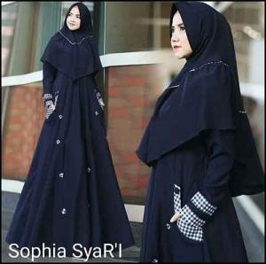 Jual Online Gamis Muslimah Shopia Syar'i Bahan wollycrepe