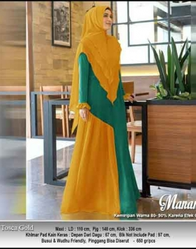Supplier Baju Gamis Pesta Cantik Mananta Syar'i Bahan Ceruti