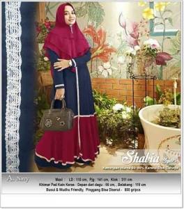 Jual Baju Muslim Shabia Syar'i Bahan Balotelli