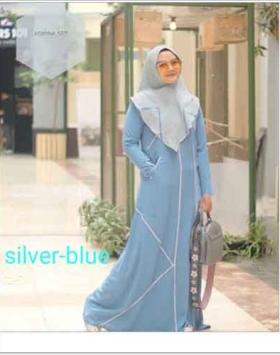 Jual online Baju Gamis Terbaru Agnina Syar'i Bahan Arabian Crepe