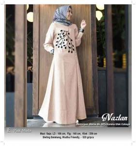 Gamis Murah Cantik Nazlan Dress Bahan Linen Rami