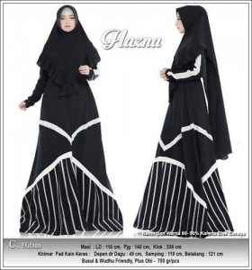 Jual Baju Gamis Flazna Syar'i Anggun Bahan Moscrepe