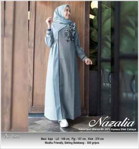 Jual Baju Gamis Katun Nazalia Dress Bahan Oxford