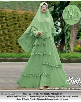 Jual Gamis Polos Cantik Syifa Syar'i Bahan Ceruti