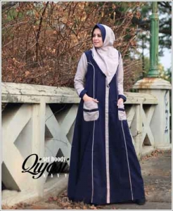 Online Shop Baju Hijabers Modern Qiyosi Set Bahan Linen Rami