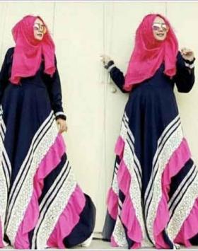 Baju Gamis Terbaru Naura-Dress Bahan Arabian Crepe