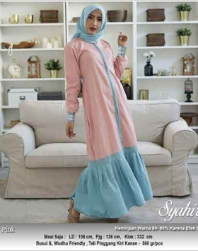 Jual Gamis Polos Murah Syahira Dress Bahan Linen Rami