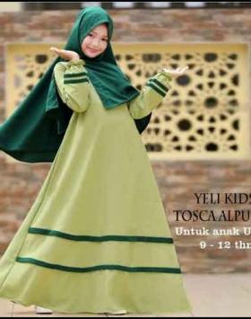 Baju Gamis Anak Perempuan Terbaru Yeli Kids Syar'i t Bahan Misbie