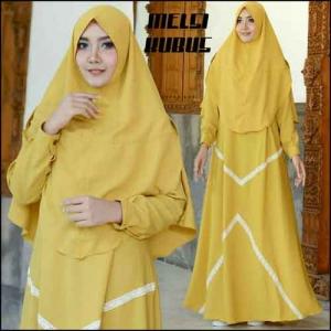 Supplier Baju Gamis Melsi Syar'i Polos Warna Kubus Bahan Amunzen