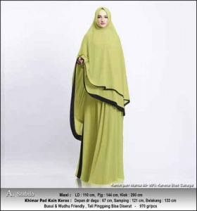 Supplier Gamis Pesta Muslimah Kitty Syar'i Warna Stabilo Bahan Ceruty