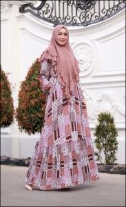 Baju Gamis Cantik Murah Iswara Six Dress warna Pink Bahan Rayon