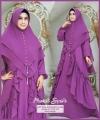 Jual Online Baju Gamis Maurel Syare'i warna Purple Bahan Ceruty Baby Doll