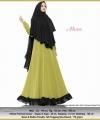 Jual Online Baju Gamis Pesta Murah Aliza Syar'i warna Stabilo Bahan Ceruty Baby Doll