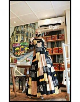 Gamis Daily Terbaru 2021 Bahan Rayon Jauharah Dress warna Eight