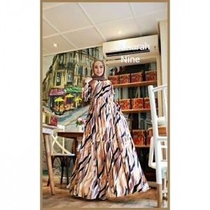 Gamis Daily Terbaru 2021 Bahan Rayon Jauharah Dress warna Nine