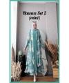 Baju Setelan Celana Hijab Terbaru Kekinian Hawwa Set 2 Warna Mint Bahan Cotton Armani